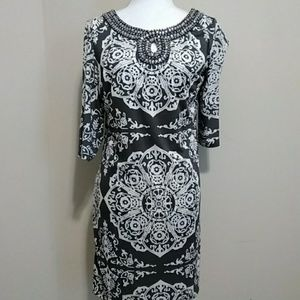 INC beaded neckline dress